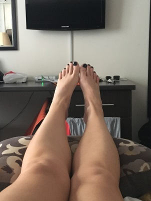 Feet up before race day